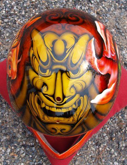 casque-japonais-carpe-koi-masque-custom-aerographie (1)