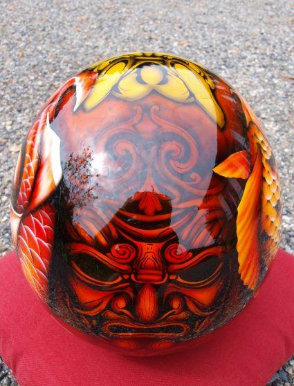 casque-japonais-carpe-koi-masque-custom-aerographie (3)